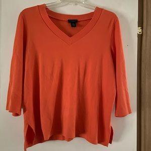 Rafaella 3/4 Sleeve Sweater Sz 1X